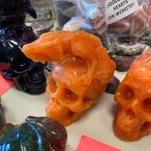 Load image into Gallery viewer, Indian sunstone Skull with Dragon