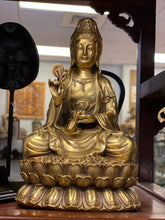 Load image into Gallery viewer, Kwan Yin Brass 9""