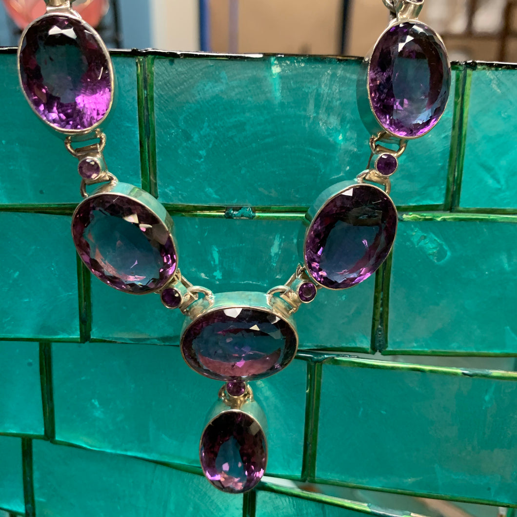 Amethyst Necklace D163