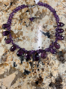 Amethyst Beaded Necklace Z727
