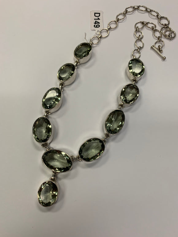Green Amethyst Necklace D149