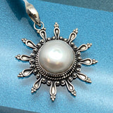 Japanese Cultured Freshwater Pearl Sun Pendant