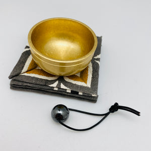 Japanese Rin Bell Gong with Natural Stone Striker