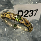 Pink and Green Tourmaline Ring Size 7.75 D237
