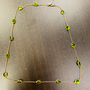 Peridot Necklace in 18k Gold D145
