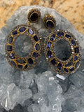 Tanzanite and Diamond Earrings U896