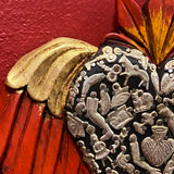 Carved Winged Milagro Heart