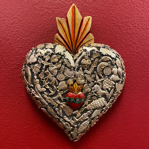 Carved Milagro Heart