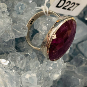 Faceted Ruby Ring Size 7 D227