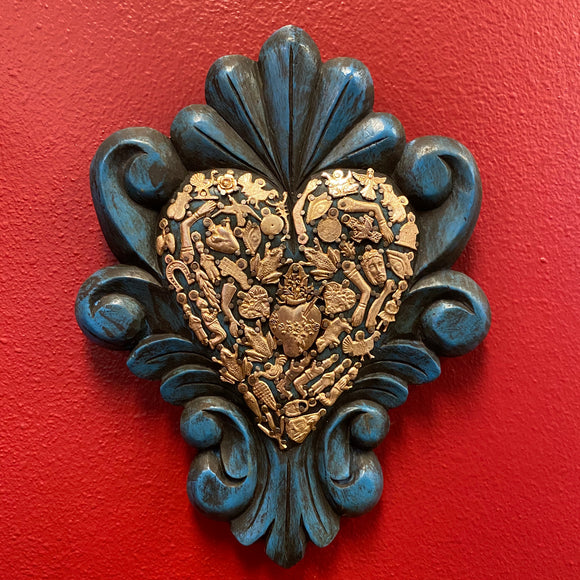 Hand Carved Milagro Heart