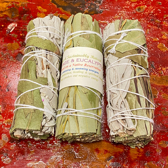 Eucalyptus & California White Sage Smudge Bundles