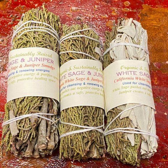 Juniper & California White Sage Smudge Bundles