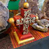 Standing Hand Carved Milagro Cross