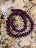 Stunning MASSIVE Ruby Beaded Strand Necklace D143