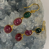 Multi-color Tourmaline Earrings in 18k D226