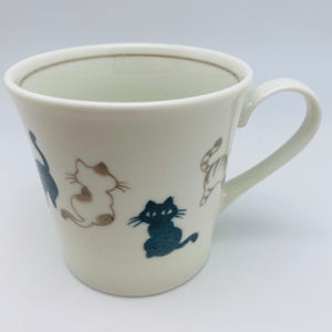 Japanese Porcelain Cat Mug