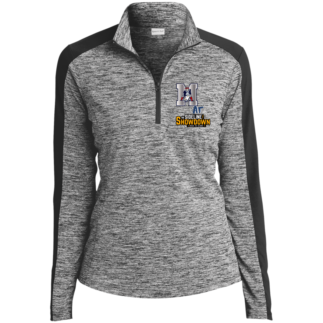 Omaha Patriots at The Sideline Showdown Series Ladies' Electric Heather Colorblock 1/4-Zip Pullover