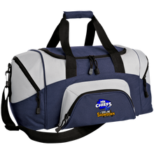 Load image into Gallery viewer, MN Chiefs at The Sideline Showdown Series Small Colorblock Sport Duffel Bag