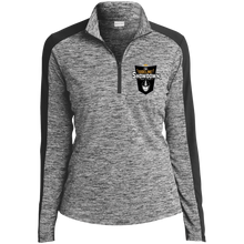 Load image into Gallery viewer, The Sideline Showdown Series Ladies' Electric Heather Colorblock 1/4-Zip Pullover
