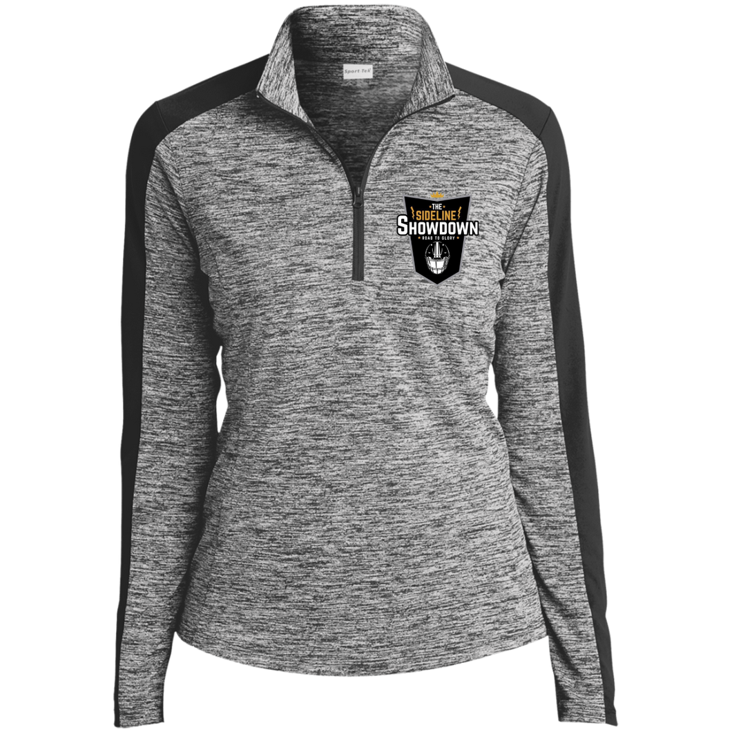 The Sideline Showdown Series Ladies' Electric Heather Colorblock 1/4-Zip Pullover