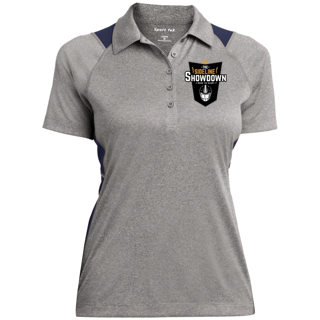 The Sideline Showdown Series Ladies' Heather Moisture Wicking Polo