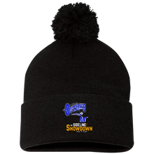 Load image into Gallery viewer, Montana Outlaws at The Sideline Showdown Series Pom Pom Knit Cap