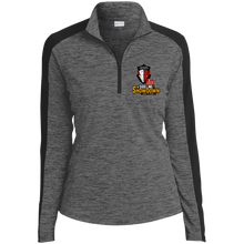 Load image into Gallery viewer, Manitoba Wildlings at The Sideline Showdown Series Ladies' Electric Heather Colorblock 1/4-Zip Pullover