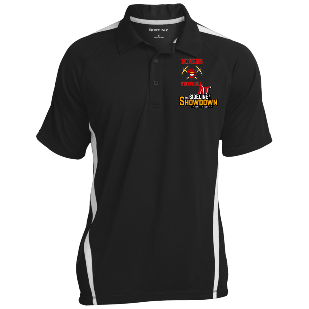 Miners Football at The Sideline Showdown Series Men's Colorblock 3-Button Polo