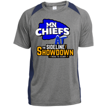 Load image into Gallery viewer, MN Chiefs at The Sideline Showdown Series  Youth Colorblock Performance T-Shirt