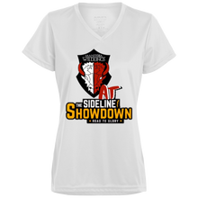 Load image into Gallery viewer, Manitoba Wildlings at The Sideline Showdown Series Ladies' Wicking T-Shirt