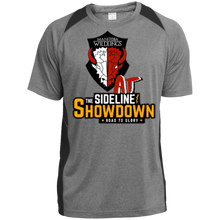 Load image into Gallery viewer, Manitoba Wildlings at The Sideline Showdown Series Heather Colorblock Poly T-Shirt