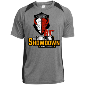 Manitoba Wildlings at The Sideline Showdown Series Heather Colorblock Poly T-Shirt