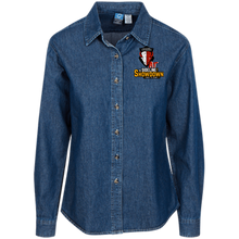 Load image into Gallery viewer, Manitoba Wildlings at The Sideline Showdown Series Women's LS Denim Shirt