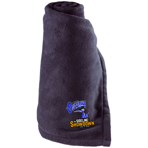 Montana Outlaws at The Sideline Showdown Series Large Fleece Blanket