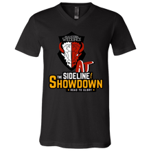 Load image into Gallery viewer, Manitoba Wildlings at The Sideline Showdown Series Unisex Jersey SS V-Neck T-Shirt