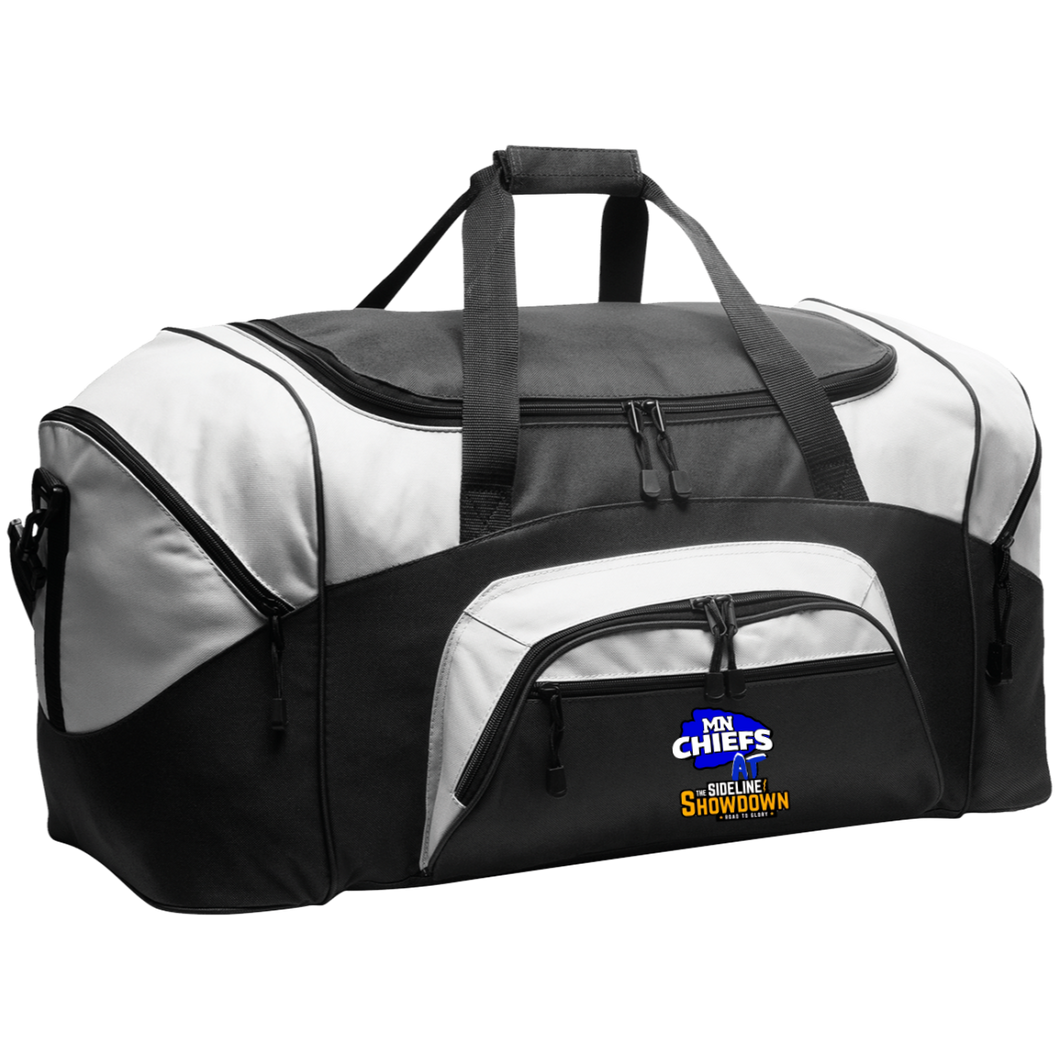 MN Chiefs at The Sideline Showdown Series Colorblock Sport Duffel