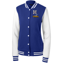 Load image into Gallery viewer, Omaha Patriots at The Sideline Showdown Series Women's Fleece Letterman Jacket
