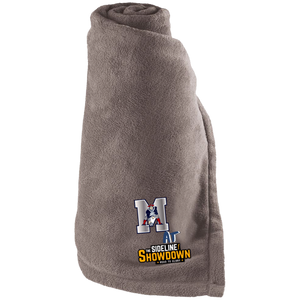 Omaha Patriots at The Sideline Showdown Series Large Fleece Blanket