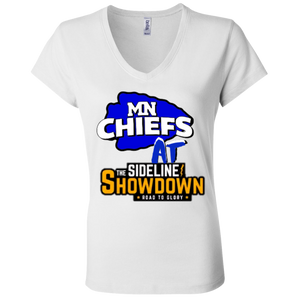 MN Chiefs at The Sideline Showdown Series Ladies' Jersey V-Neck T-Shirt