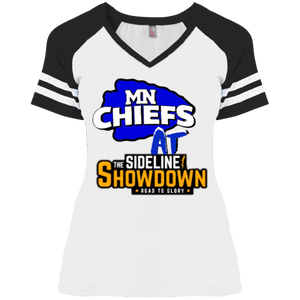 MN Chiefs at The Sideline Showdown Series Ladies' Game V-Neck T-Shirt