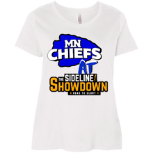 Load image into Gallery viewer, MN Chiefs at The Sideline Showdown Series Ladies' Curvy T-Shirt