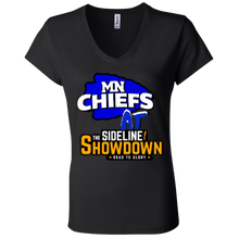 Load image into Gallery viewer, MN Chiefs at The Sideline Showdown Series Ladies' Jersey V-Neck T-Shirt