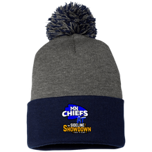 Load image into Gallery viewer, MN Chiefs at The Sideline Showdown Series Pom Pom Knit Cap