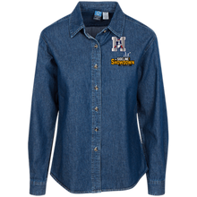 Load image into Gallery viewer, Omaha Patriots at The Sideline Showdown Series Women's LS Denim Shirt