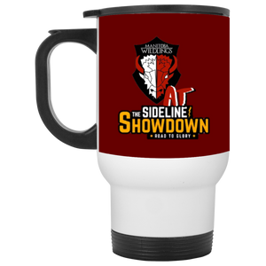 Manitoba Wildlings at The Sideline Showdown Series White Travel Mug