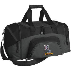 Omaha Patriots at The Sideline Showdown Series Small Colorblock Sport Duffel Bag