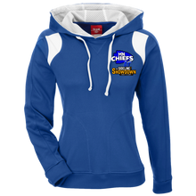 Load image into Gallery viewer, MN Chiefs at The Sideline Showdown Series Ladies' Colorblock Poly Hoodie