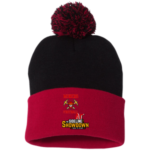Miners Football at The Sideline Showdown Series Pom Pom Knit Cap