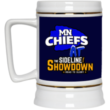 Load image into Gallery viewer, MN Chiefs at The Sideline Showdown Series Beer Stein 22oz.