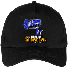 Load image into Gallery viewer, Montana Outlaws at The Sideline Showdown Series Five Panel Twill Cap